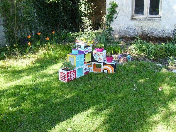 12 best Jardinières en béton images on Pinterest Cubes, Cement and - peindre une terrasse en beton
