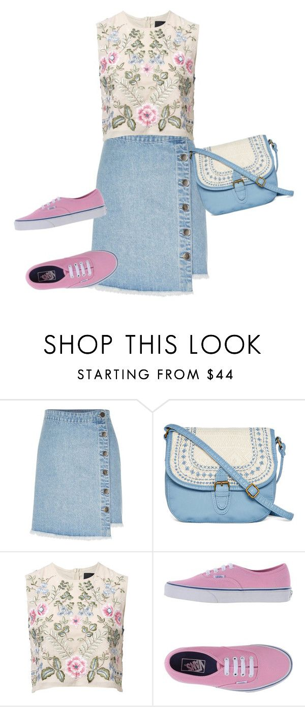 """Мокасины"" by gerusm on Polyvore featuring мода, River Island, T-shirt & Jeans, Needle & Thread и Vans"