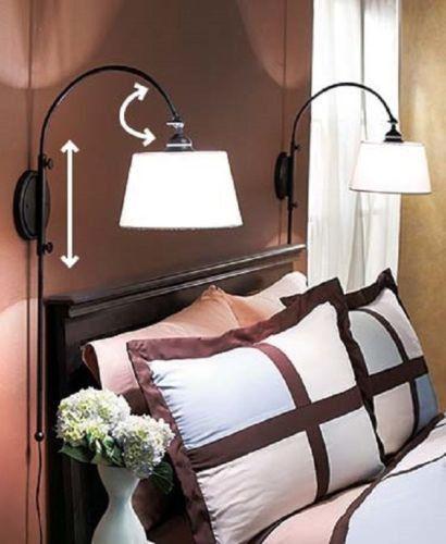 Wall Lamp Adjustable Vintage Reading Swing Arm Lighting Bedside