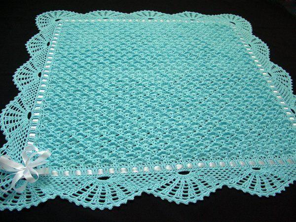 Crochet baby blanket diagram pattern.