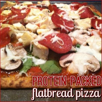Ripped Recipes - Protein Packed Flatbread Pizza - Give this protein packed pizza a try!