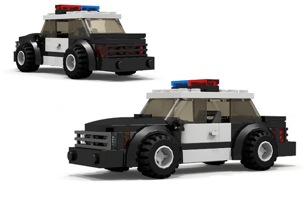 how to build a police car out of legos