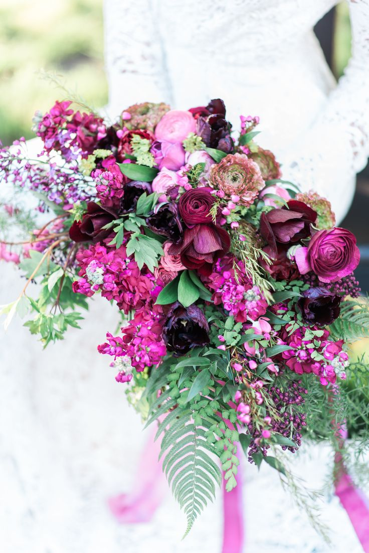4924 best wedding bouquets images on pinterest wedding bouquets its not easy being green until you add a splash of magenta hot pink wedding bouquet boho bridal style dhlflorist Choice Image