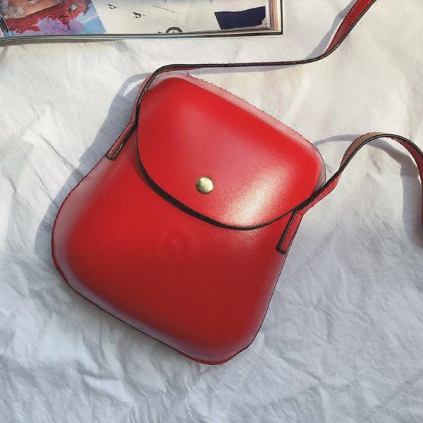 Women PU Leather Mini Crossbody bag Bucket Bag Phone Bag
