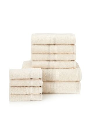 66% OFF Chortex 10-Piece Imperial Bath Towel Set, Vanilla