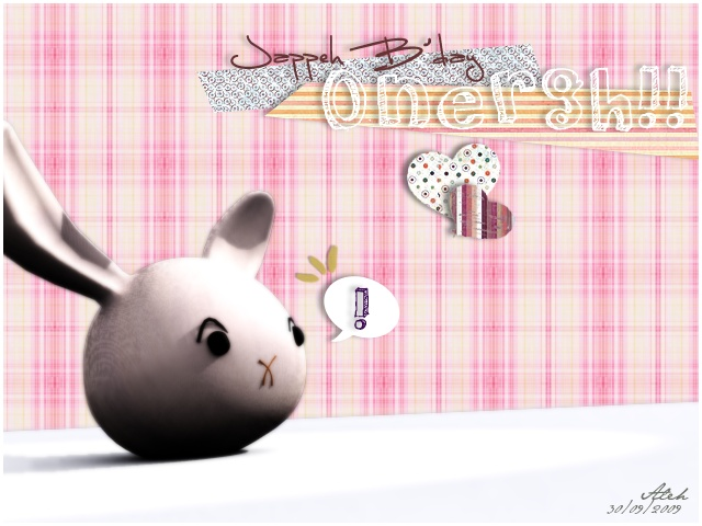 A birthday gift, I made the bunny in 3D Max, and everything else was done with Photoshop