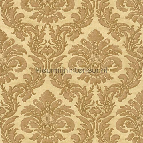 Traditional damask gold barok behang