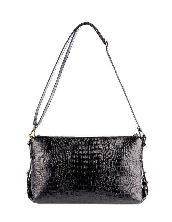 0a5baf3b5 Bolsa duas em uma de couro legítimo preta | Projetos | Shoulder Bag ...