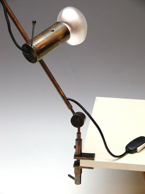 Tito Agnoli; Adjustable Table Lamp for Oluce, 1954.