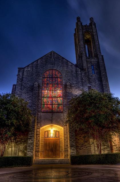 Louis Perkins Chapel Southwestern University ... love that I went to school here :)