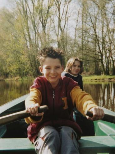 Bill & Tom Kaulitz!!! Tomi parece asustado!