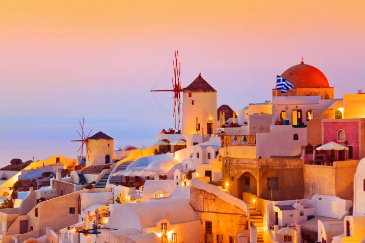 From Santorini, Greece to The Maldives, find out where the most romantic places to watch the sunset are!