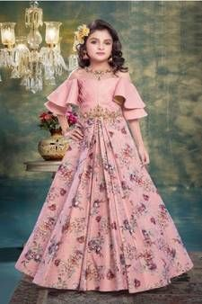 Indian Kids Wear Buy Children Outfits For Boys Girls Online Gowns For Girls Kids Party Wear Dresses Girls Frock Design