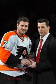 My two favorite hockey players ever! Mike Richards and Rod Brind'amour!!