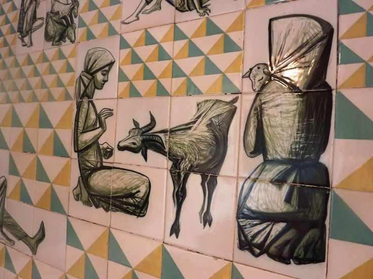 20th century tiles from Museu do Azulejo