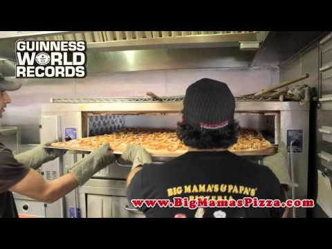 World's Biggest Pizza Delivered to Actor Daniel Roebuck from Big Mama's & Papa's Pizzeria in Burbank