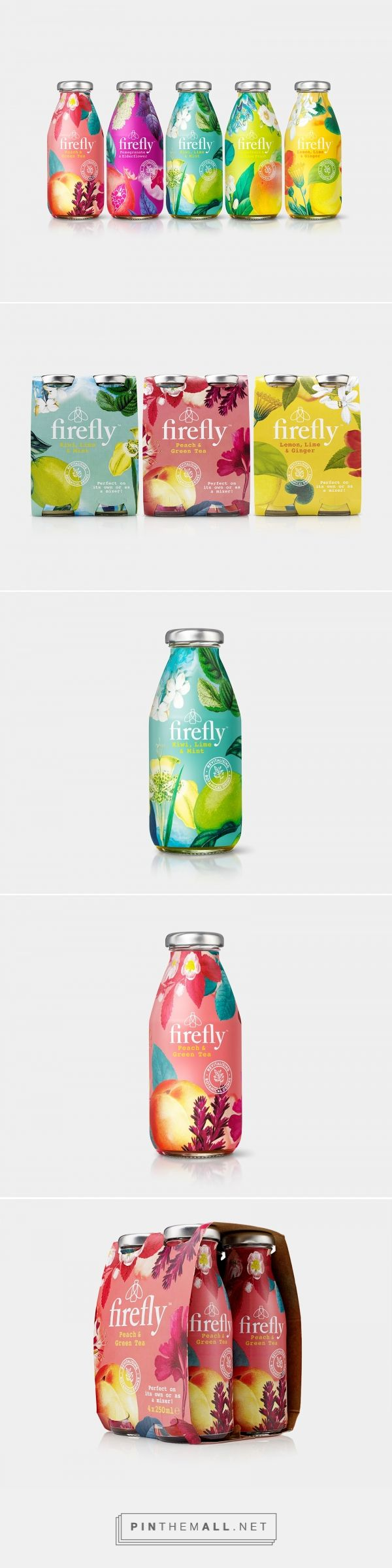 Firefly drinks packaging design by B&B studio - https://www.packagingoftheworld.com/2018/02/firefly.html