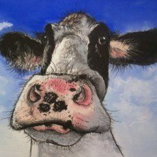 """Moo!"" by Australian artist Sally Ford - this is too cute I love it!!!"