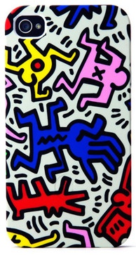 Keith Haring iPhone Case, Chaos eclectic home electronics