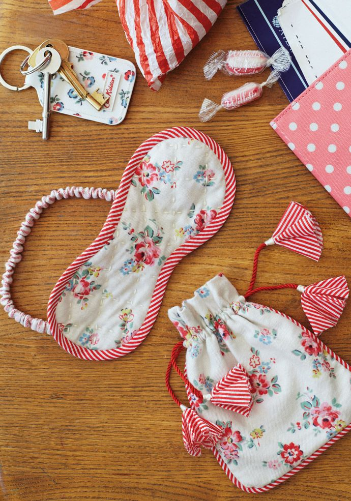 Sleep mask & pouch - free pattern @ Cath Kidston