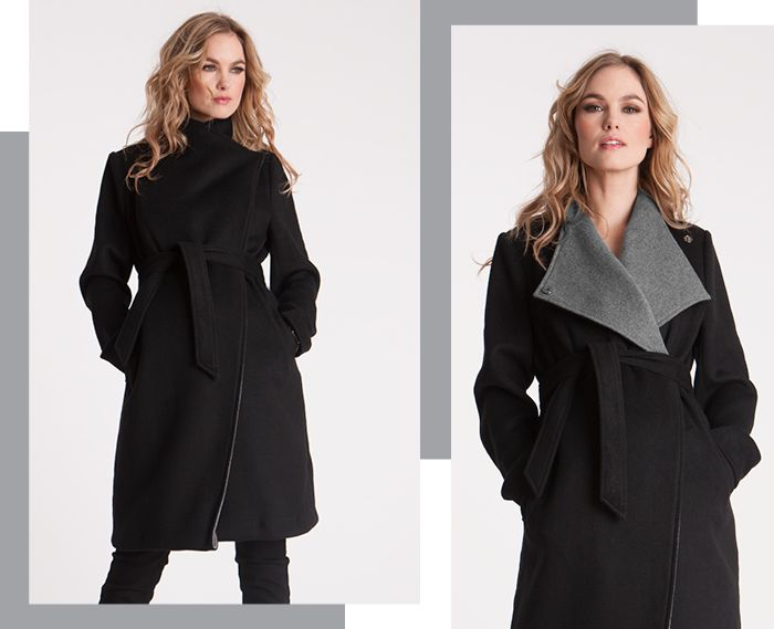 Seraphine Maternity Donatella Two-Tone Winter Coat