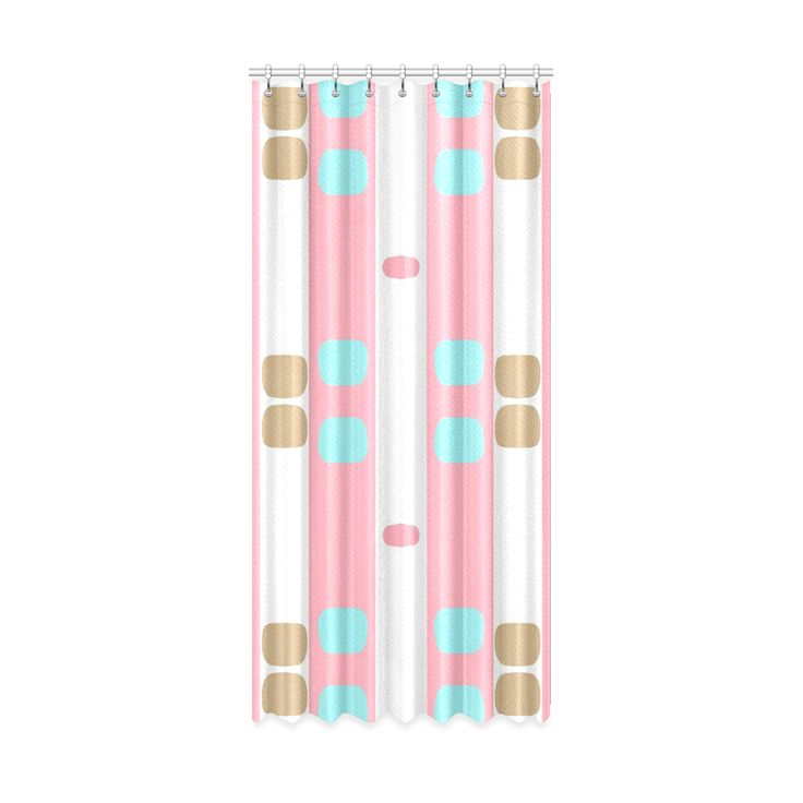 "window curtain 50"" x 108""-pastel stripes with dots Window Curtain 50"" x 108"".Pastel pattern designed by #Annabellerockz"