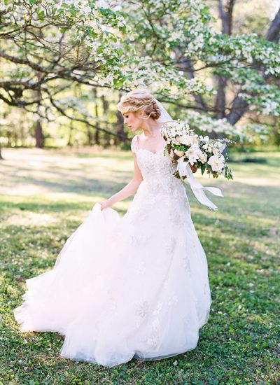 Timeless, vintage-inspired gown