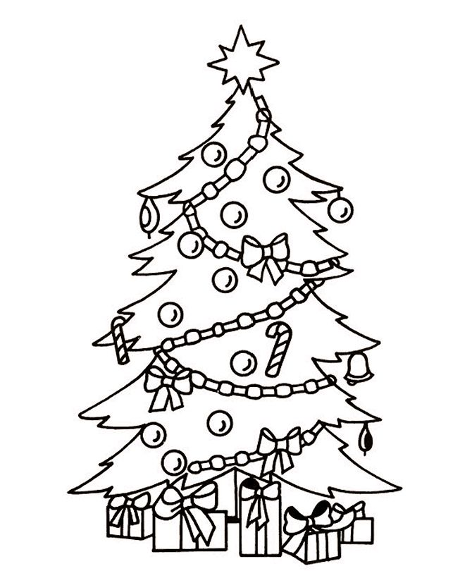 Top 20 Free Printable Christmas Tree Coloring Pages Online