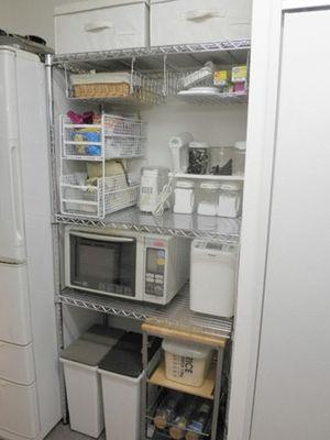 メタルラックでキッチン収納