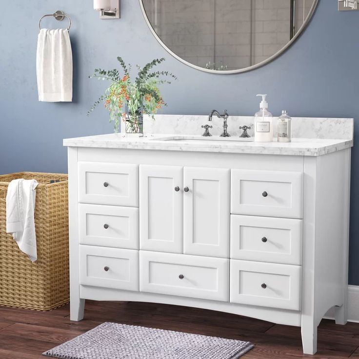 Charlton Home Weddle 48 Single Bathroom Vanity Set Reviews Wayfair Bathroom Vanity Single Bathroom Vanity Vanity