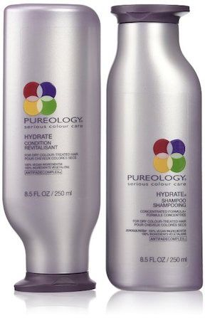 Pureology Hydrate Shampoo and Conditioner, $43, Amazon  For hair that's been subjected to dehydrating chemical treatments, this best-selling moisturizing sulfate-free shampoo and conditioner can restore your hair to its former glory. This salt-free set preserves your color with a nourishing mix of coconut, rose, and sandalwood extract, while natural shea butter and sage and peppermint extracts create an aromatherapy blend you'll obsess over.