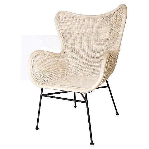 Lovely Iris Armchair, Whitewash Rattan