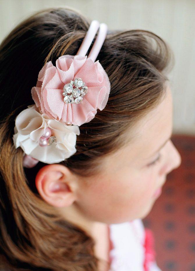 DIY: bejewelled flower headband