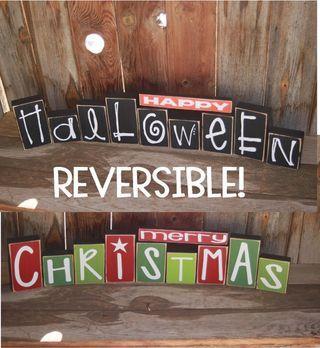 Reversible Halloween & Christmas Decoration!
