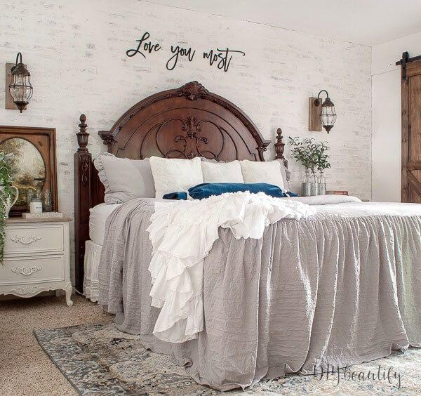 European Farmhouse Master Bedroom Reveal In 2019 Modern