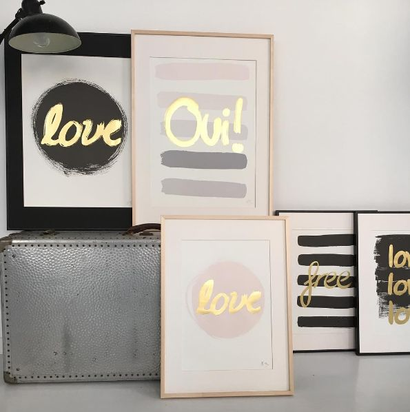 All you need is love. And glitter. And Gold. And pastels. And art prints. Right?