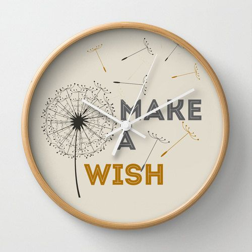 Machen Sie eine Wunsch Wand Uhr Zitat Tippfehler Wohnkultur Löwenzahn Wand Uhr Ornament dekoration Haushaltswaren Hipster modernen Zitat Design Gold und grau