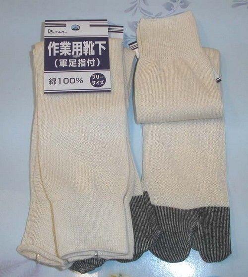 4X Pair Men Boot Slipper Geta Tabi Long Sock S-2778X4