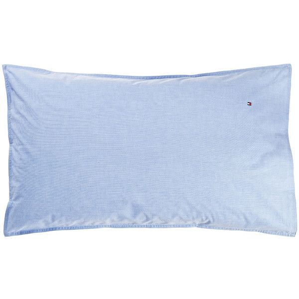 Tommy Hilfiger Chambray Pillowcase - Blue - 50x80cm ($46) ❤ liked on Polyvore featuring home, bed & bath, bedding, bed sheets, blue, plain bedding, blue pillow cases, chambray bedding, blue bed linen and blue bedding