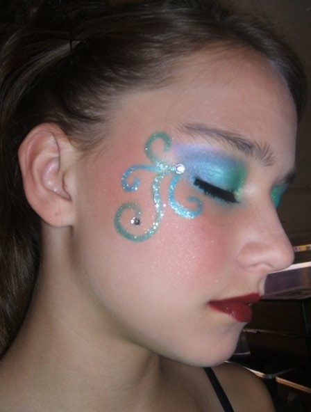 blue and purple swirls -would be awesome Colorguard makeup