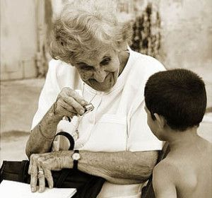 eldery #woman and little #boy  - #God