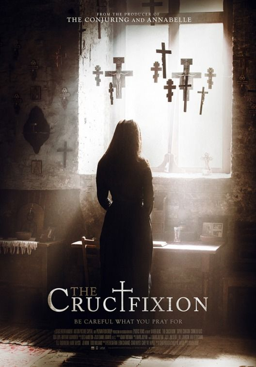 """'Be careful what you pray for' The Crucifixion is a 2017 British/Romanian horror film directed by Xavier Gens (Cold Skin; The ABCs of Death, segment """"X Is for XXL""""; Frontier…"""