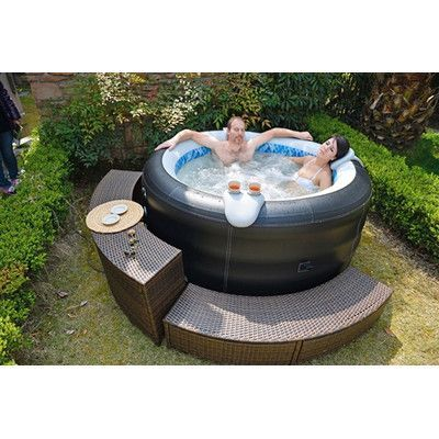 Jilong Avenli 4 Person Spa Prolong Deluxe Inflatable Hot Tub U0026 Reviews |  Wayfair