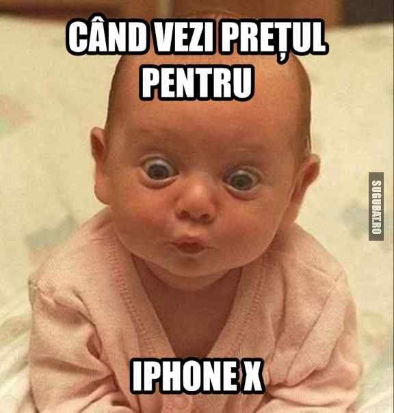 Cand vezi pretul pentru iPhone X