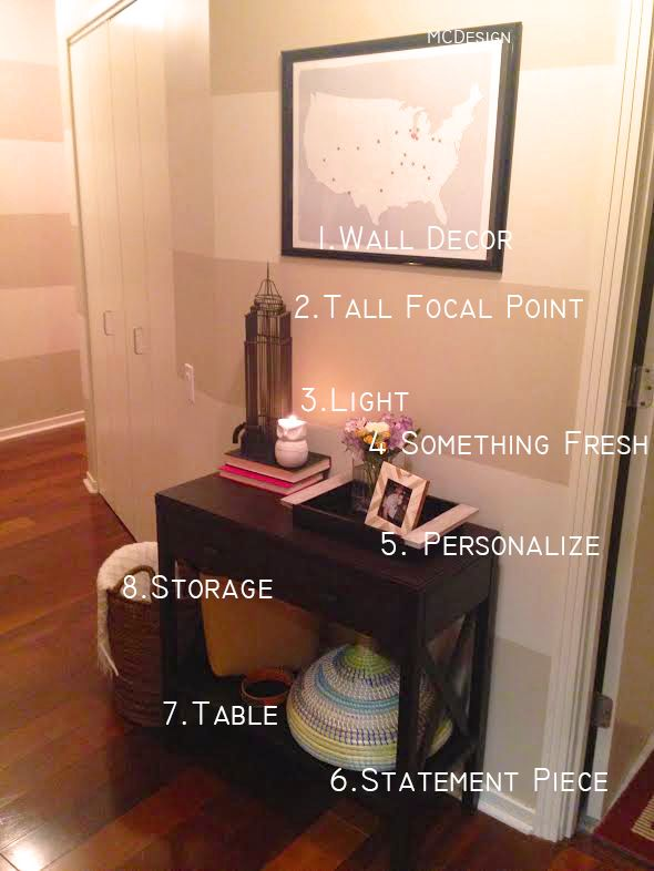 """8 Musts For Your """"Entry Table Decor"""""""