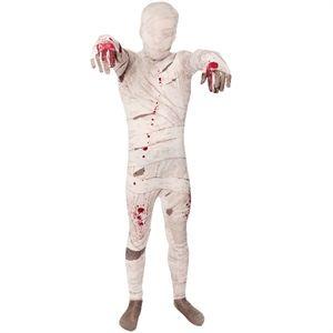Mumie heldragt, total sej Halloween kostume til børn. Heldragt til Halloween og udklædnings fester.  #halloween #kostumer #temafest #morphsuits