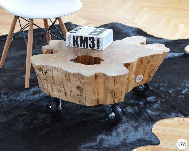Design · Stolik z pieńka