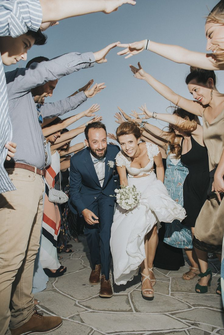 lafete party wedding Sifnos, Cyclades, couple,hand arch, friends