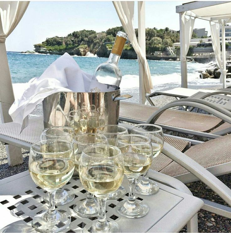 Enjoy a glass of your favourite white wine with your beloved ones in your private gazebo