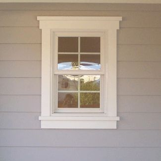 window+trim+ideas | exampleof a lap siding building with 2 x 4 wood trim around the window ...